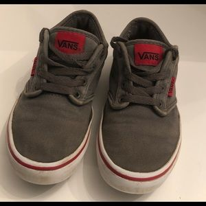 "Vans ""Off the Wall"" size youth 1 Gray Red Trim"
